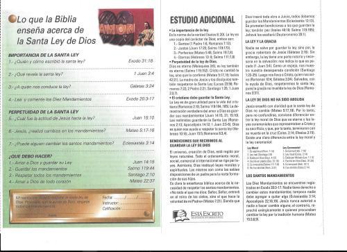 10-Lo que la Biblia enseña acerca de la Ley de Dios-10-