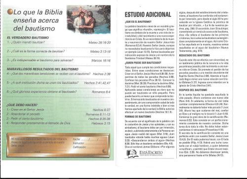17-Lo que la Biblia enseña acerca del bautismo- 17-