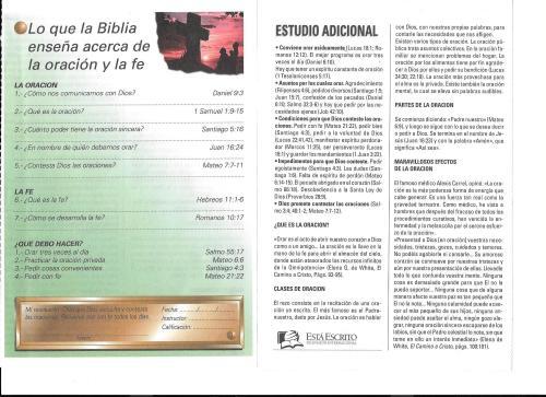 3-Lo que la Biblia enseña acerca de la oración y la fe-lección 3