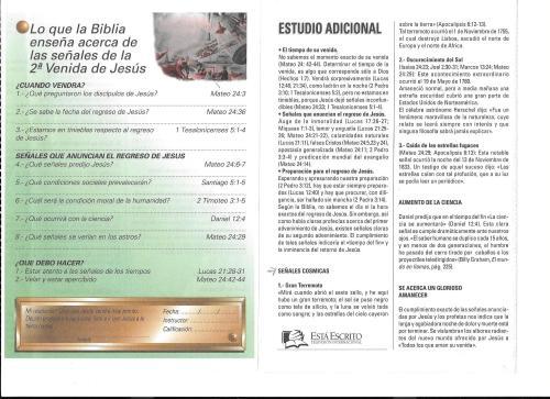 5-Lo que la Biblia enseña acerca de las señales- 2da. Venida-lección 5-